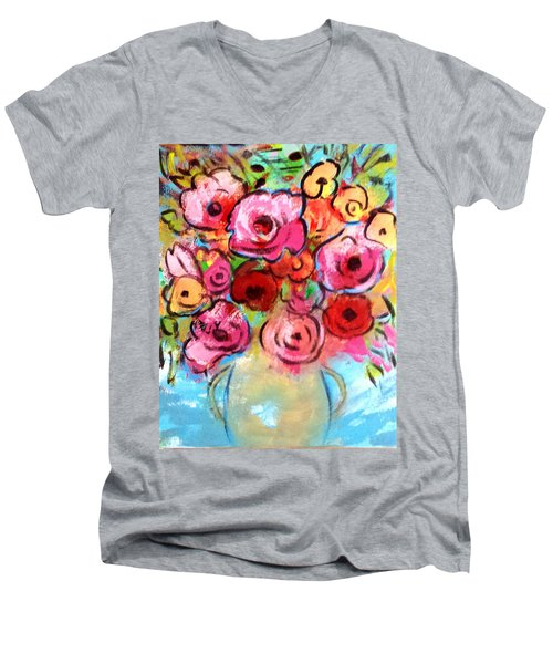 First Roses Of Summer Men's V-Neck T-Shirt
