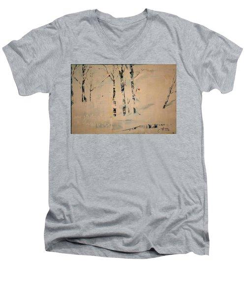 First Snow Central Park Men's V-Neck T-Shirt