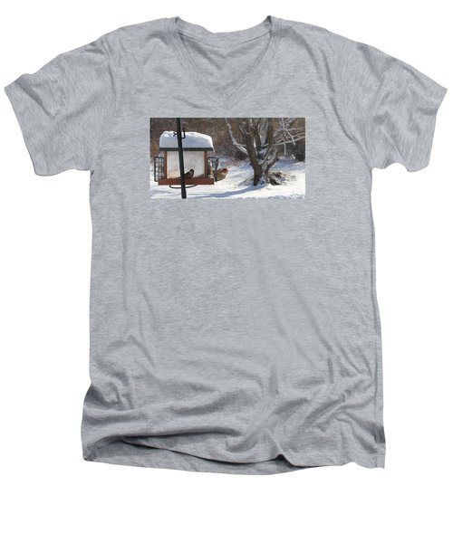 First Snow Diners Men's V-Neck T-Shirt