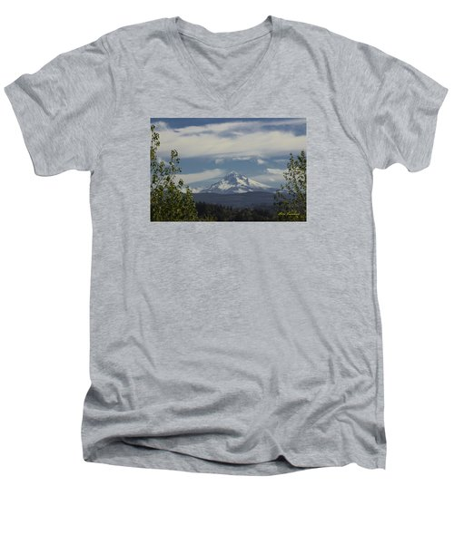 First Snow Signed Men's V-Neck T-Shirt