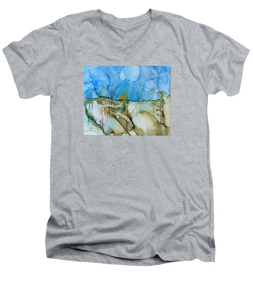 First Snowfall Men's V-Neck T-Shirt by Pat Purdy