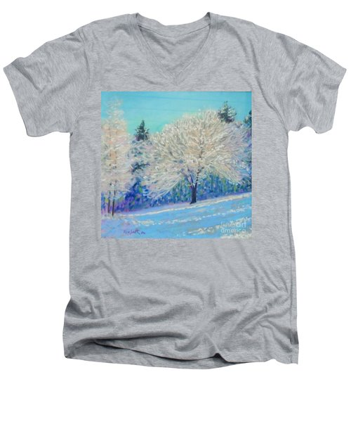 First Snowfall  Men's V-Neck T-Shirt by Rae  Smith PAC