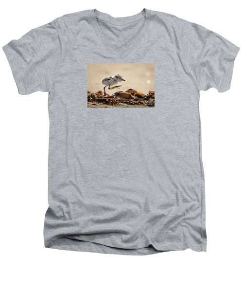 First Steps Men's V-Neck T-Shirt by Alice Cahill