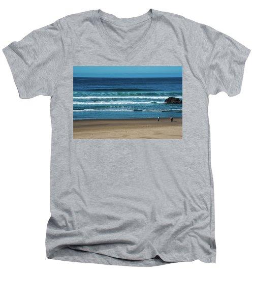 First Steps On The Sand Men's V-Neck T-Shirt