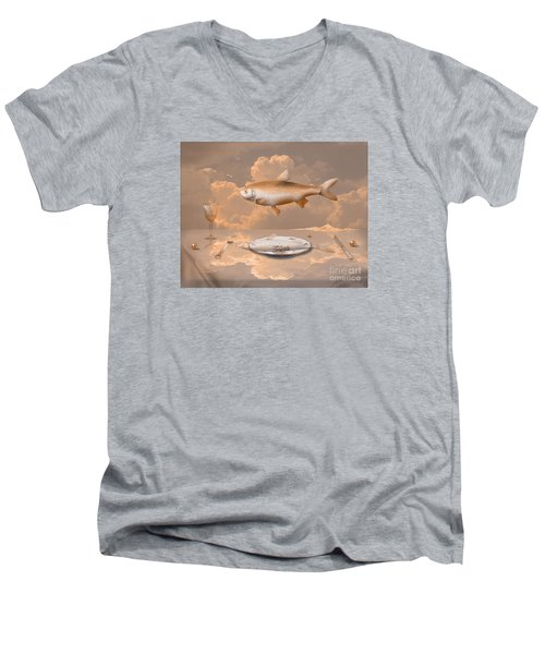 Fish Diner Men's V-Neck T-Shirt