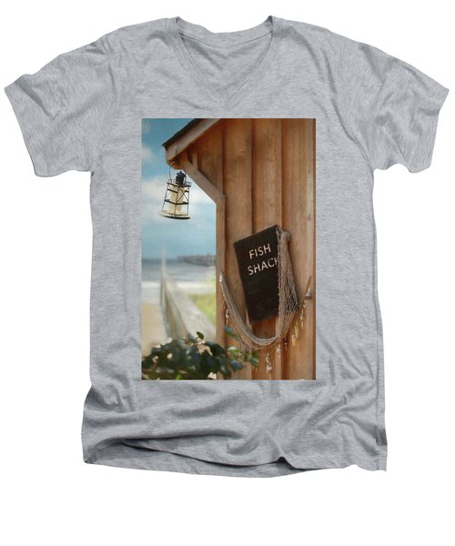 Men's V-Neck T-Shirt featuring the photograph Fish Fileted by Lori Deiter