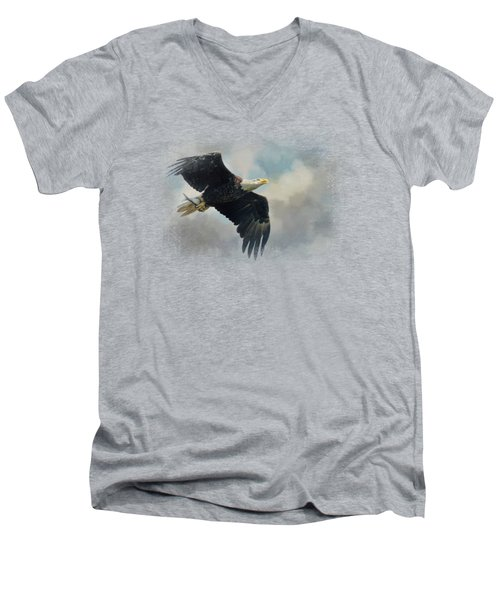 Fish In The Talons Men's V-Neck T-Shirt by Jai Johnson
