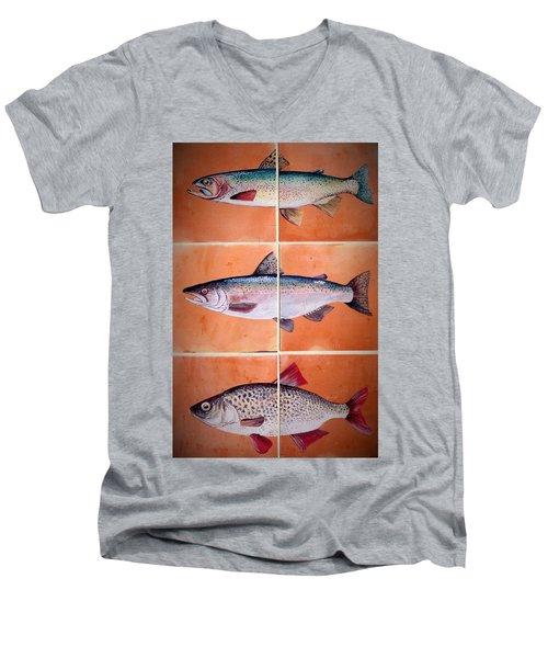 Fish Mural Men's V-Neck T-Shirt