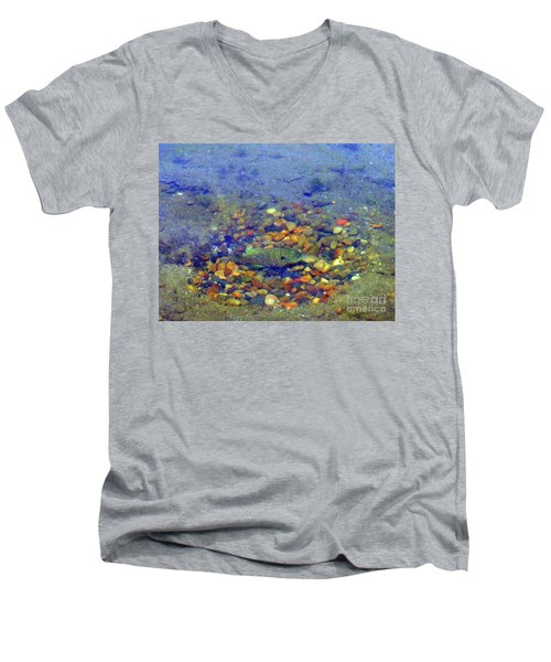 Men's V-Neck T-Shirt featuring the photograph Fish Spawning by Rockin Docks Deluxephotos