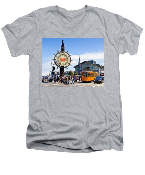 Fishermans Wharf - San Francisco Men's V-Neck T-Shirt