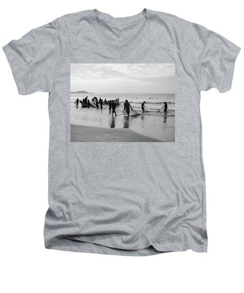 Fishermen In Florianopolis, Brazil Men's V-Neck T-Shirt