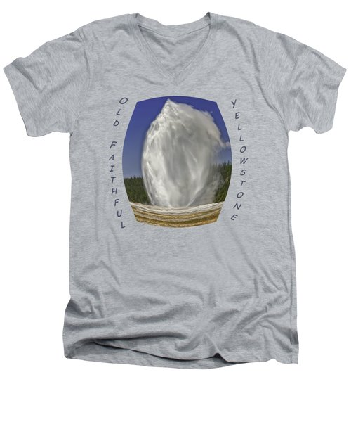Fisheye Look At Old Faithful Men's V-Neck T-Shirt