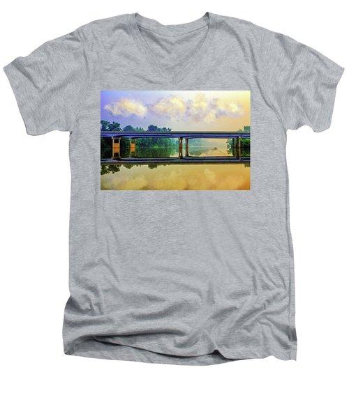 Fishin' For Angels Men's V-Neck T-Shirt