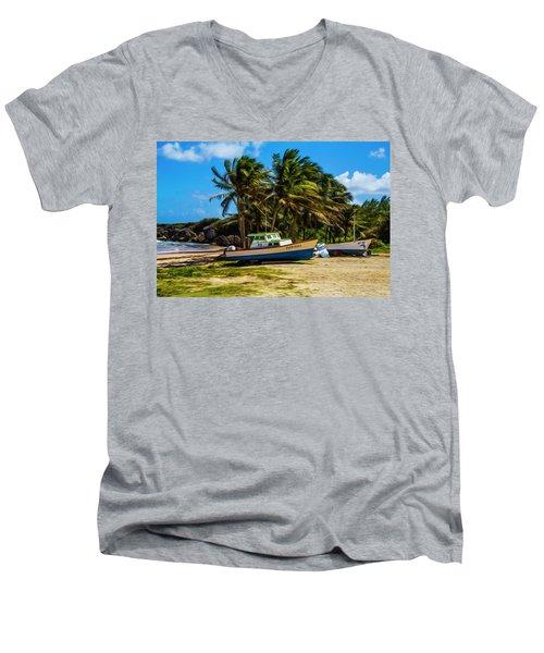 Fishing Boat Men's V-Neck T-Shirt