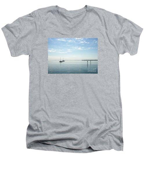 Fishing Buddies Men's V-Neck T-Shirt by Gail Kent
