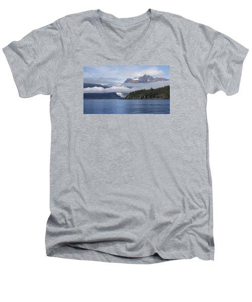 Fishing In Southeast Alaska Men's V-Neck T-Shirt by Michele Cornelius