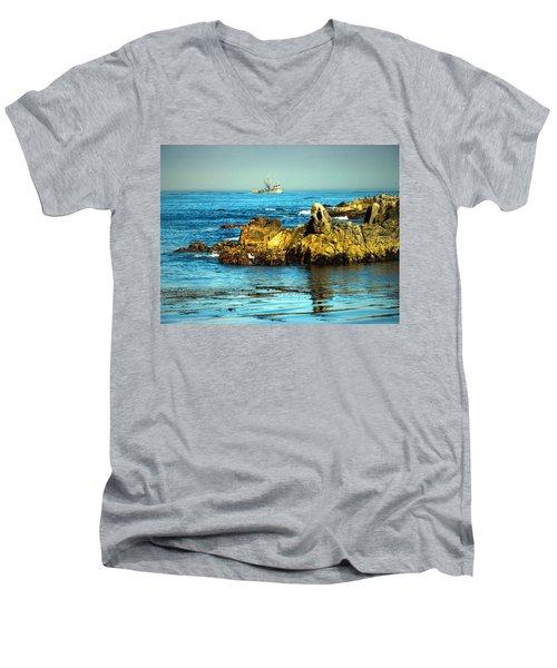 Fishing Monterey Bay Ca Men's V-Neck T-Shirt