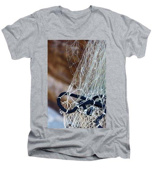 Fishing Net Details - Rovinj, Croatia Men's V-Neck T-Shirt