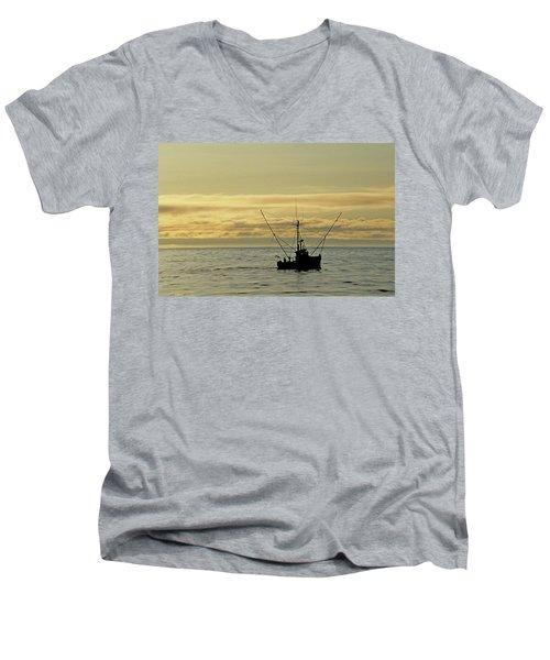 Fishing Off Santa Cruz Men's V-Neck T-Shirt