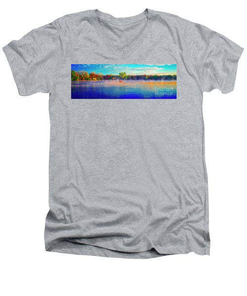 Fishing On Crystal Lake, Il., Sport, Fall Men's V-Neck T-Shirt