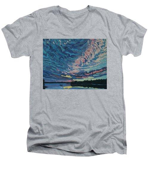 Fishing Sunset Men's V-Neck T-Shirt