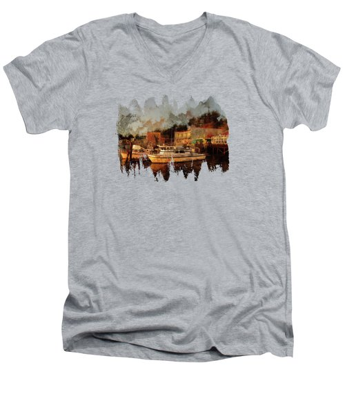 Men's V-Neck T-Shirt featuring the photograph Fishing Trips Daily by Thom Zehrfeld