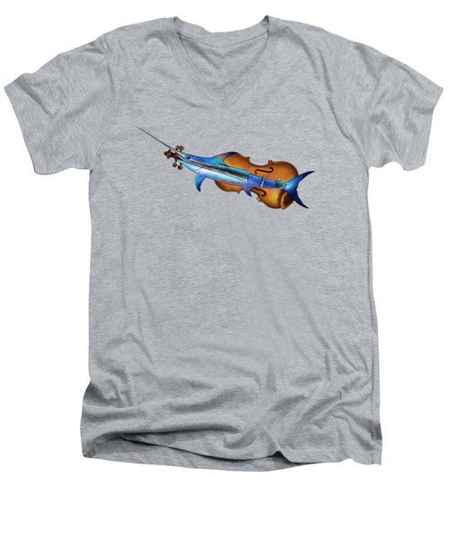 Fisholin V1 - Instrumental Fish Men's V-Neck T-Shirt by Cersatti