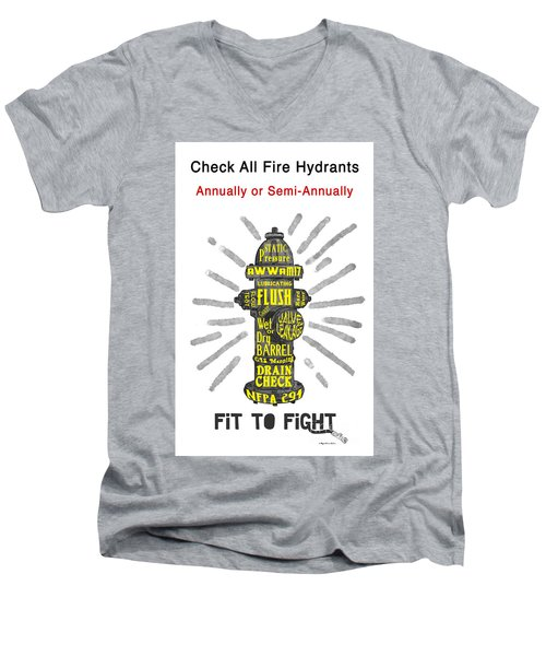 Fit To Fight Men's V-Neck T-Shirt by Megan Dirsa-DuBois
