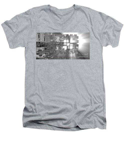 Fitting In Men's V-Neck T-Shirt