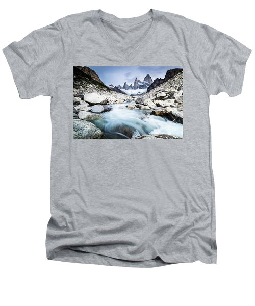 Fitz Roy On A Cloudy Day  Men's V-Neck T-Shirt