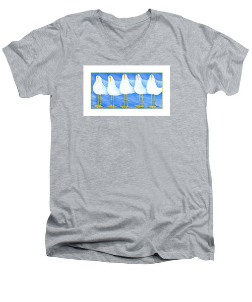 Five Seagulls Men's V-Neck T-Shirt