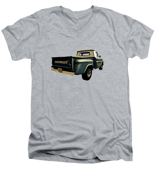 Five-six Chevy Pickup And The Golden Sky Men's V-Neck T-Shirt