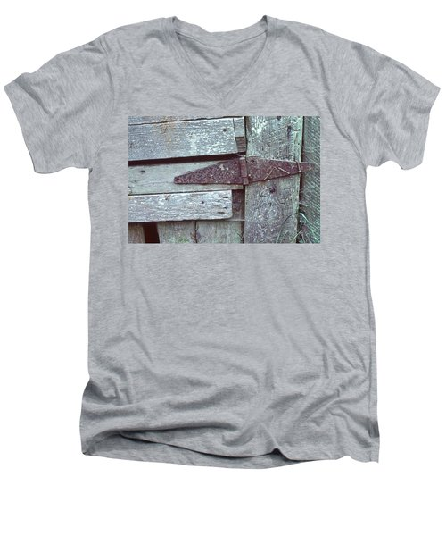 Men's V-Neck T-Shirt featuring the photograph Fixed by Laurie Stewart
