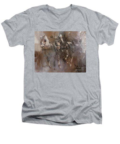 Fjords On The Run Men's V-Neck T-Shirt