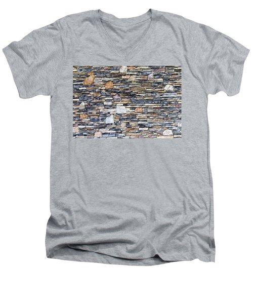 Flagstone Wall Men's V-Neck T-Shirt