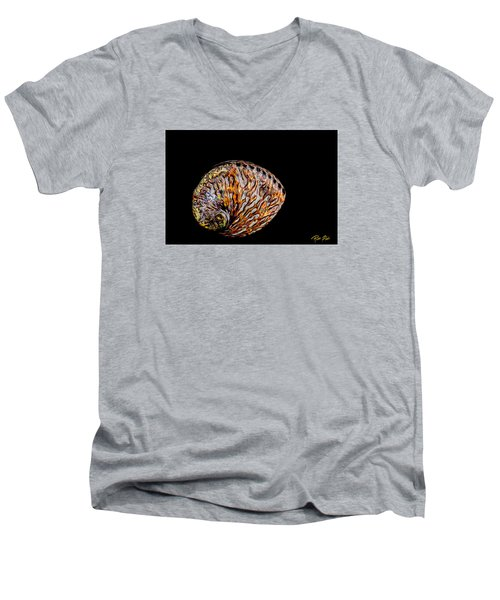 Flame Abalone Men's V-Neck T-Shirt