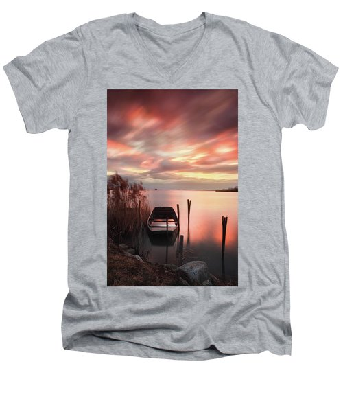 Flame In The Darkness Men's V-Neck T-Shirt