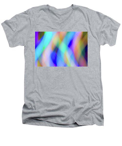 Flames Of Iridescence Men's V-Neck T-Shirt