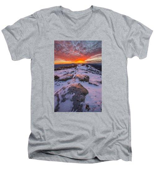 Flames Over Haystack Men's V-Neck T-Shirt