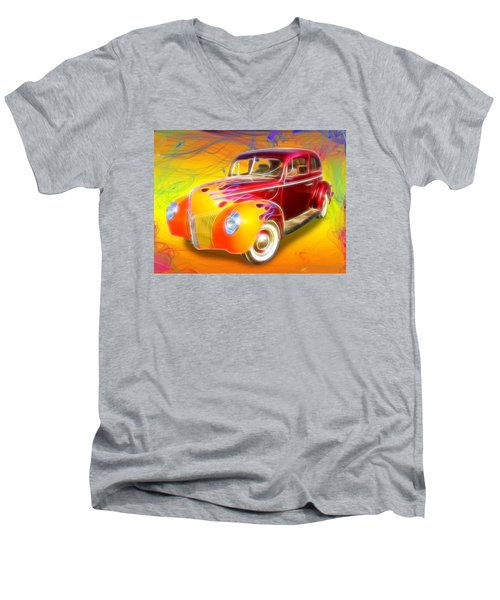 Flamin' '40 Men's V-Neck T-Shirt