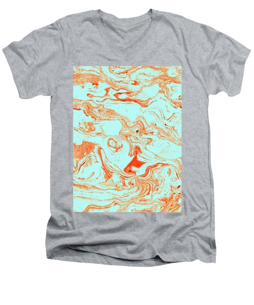 Flamingo And Sea Marble Men's V-Neck T-Shirt