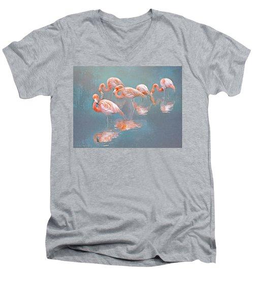 Flamingo Blues Men's V-Neck T-Shirt