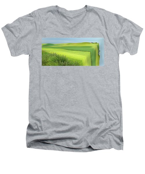 Flat Earth Men's V-Neck T-Shirt