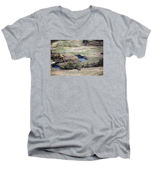 Flathead River 3 Men's V-Neck T-Shirt by Janie Johnson
