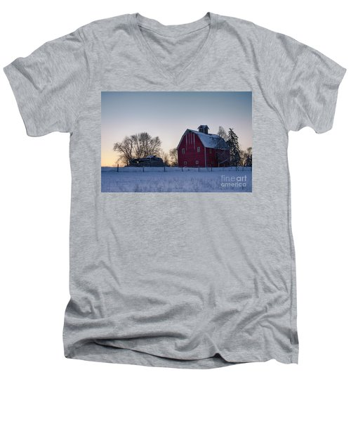 Flathead Valley Dawn Men's V-Neck T-Shirt