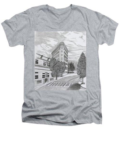 Flatiron In Asheville  Men's V-Neck T-Shirt