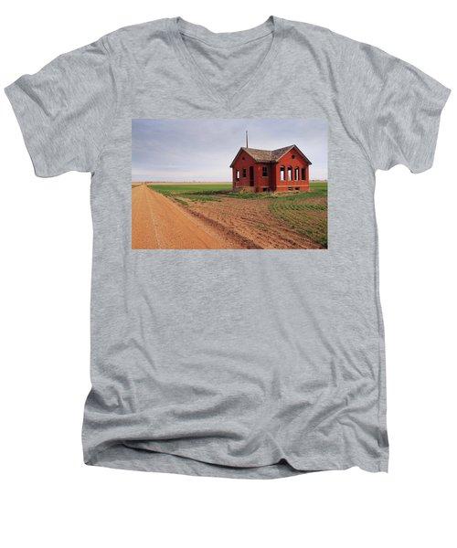 Flatland Schoolhouse Men's V-Neck T-Shirt