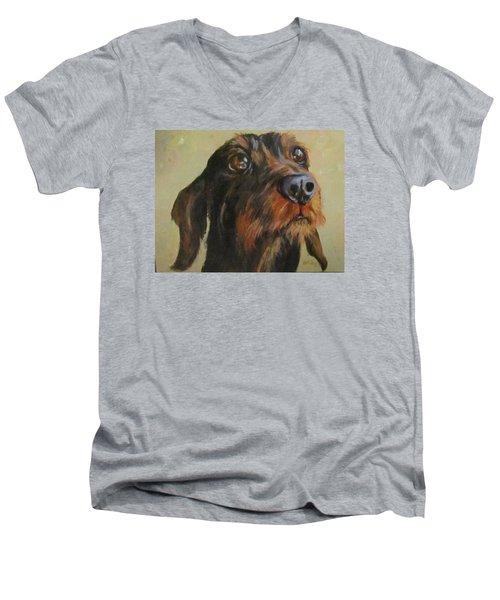 Flavi Men's V-Neck T-Shirt by Barbara O'Toole