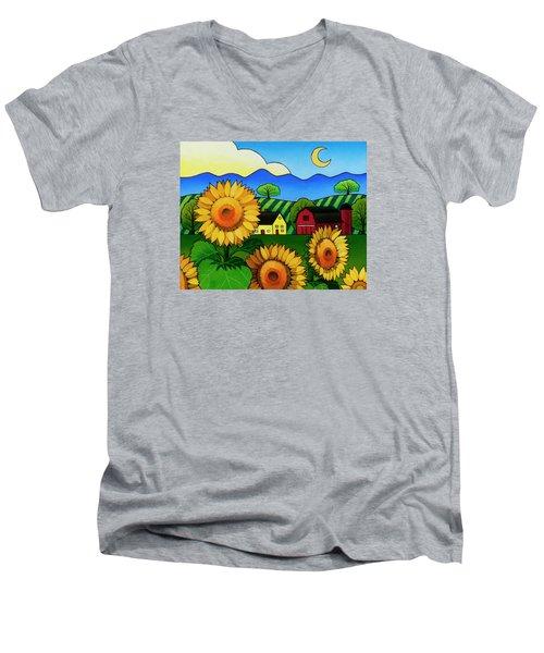 Fleur Du Soleil Men's V-Neck T-Shirt