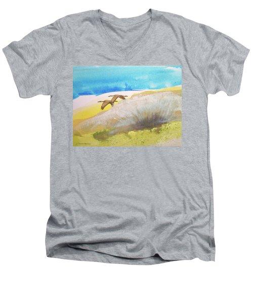 Fleur La Nuit Men's V-Neck T-Shirt